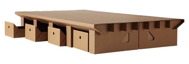 bed van karton eyespired. Black Bedroom Furniture Sets. Home Design Ideas