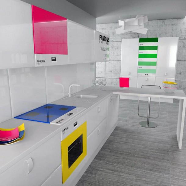 Pantone keuken eyespired - Cocinas con colores vivos ...