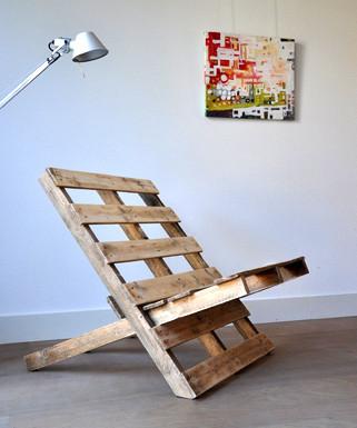 Rauwe stoel van pallets eyespired - Wekelijkse hout ...