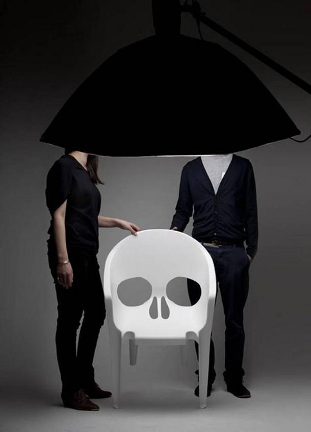 Witte Kunststof Design Stoelen.Witte Plastic Design Stoel In De Vorm Van Een Schedel Eyespired