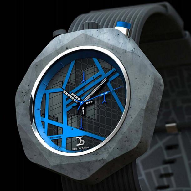 Betonnen horloge van Dzmitry Samal