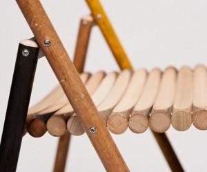 Design klapstoel van hout