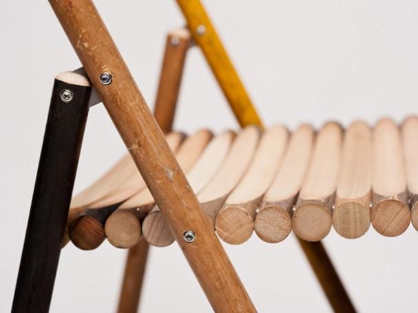Design klapstoel van bezemstelen eyespired - Wekelijkse hout ...