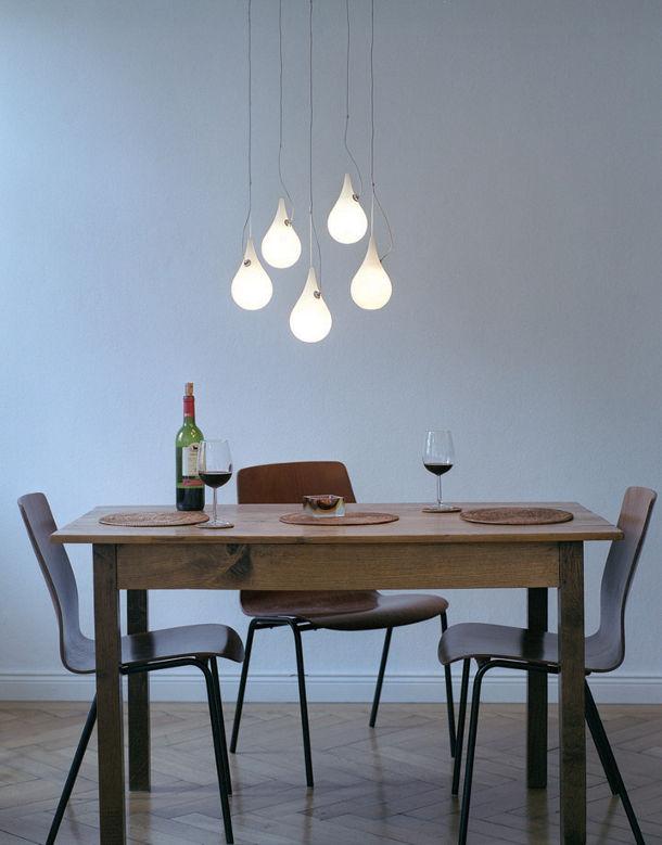 Design wandlampen in de vorm van een druppel eyespired for Eetkamer design