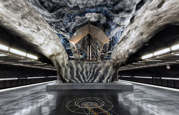 Kunst in de metrostations van Stockholm