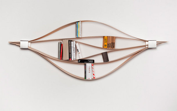 Flexibele houten design boekenplank eyespired - Bibliotheques ontwerp ...