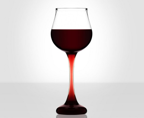 Hand geblazen design wijnglazen