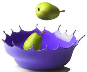 Paarse design fruitschaal