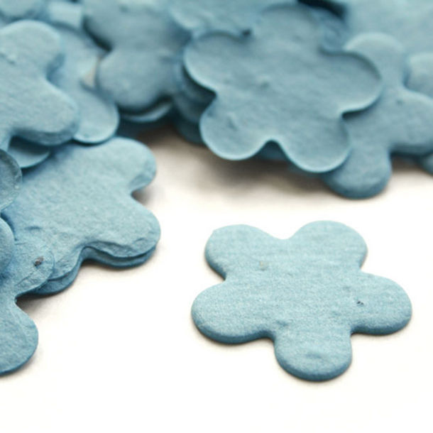 Groei bloemen uit confetti