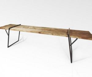Design houten eettafel van Luis Arrrivillaga