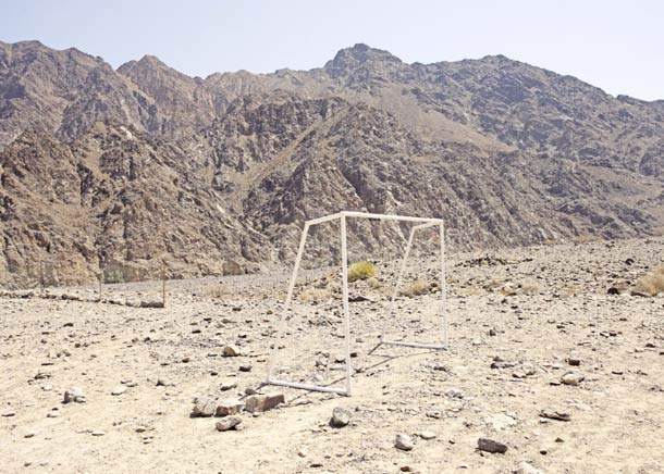 Voetbal in de woestijn