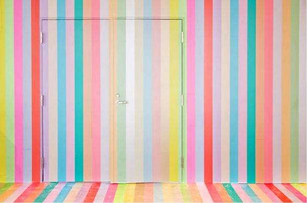 Kunst installatie van Koji Iyama