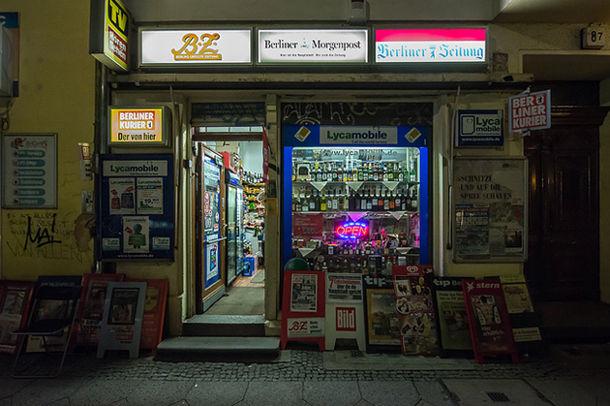 Spati - nachtwinkel in Berlijn
