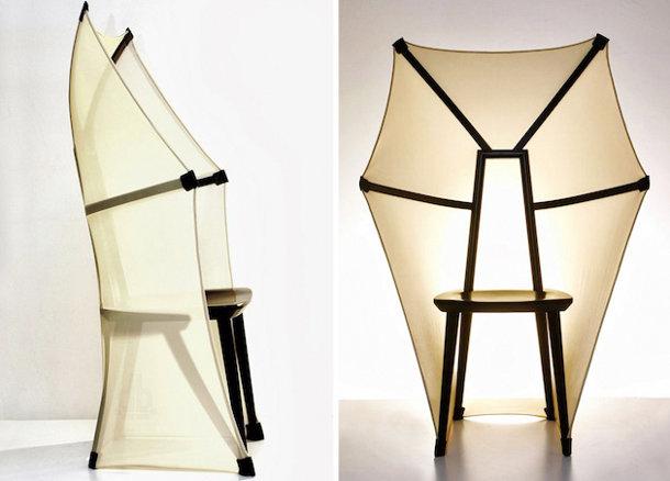 Gevleugelde vleermuis stoel eyespired for Avant garde interiors