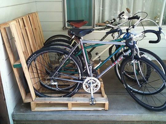 fietsrek van pallets