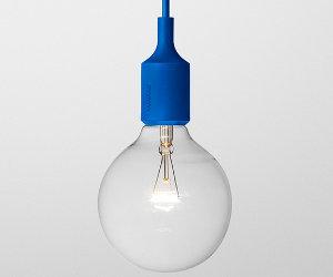 Blauwe E27 lamp