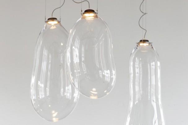de designer van deze glazen hanglamp alex de witte is duidelijk ...