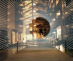 Licht animatie in Tokio