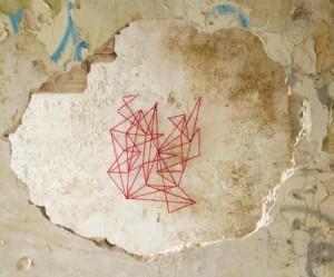 Street art van spidertag
