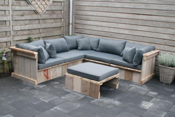 Bekijk deze 10 tuinmeubelen van pallets for Loungeset steigerhout zelf maken