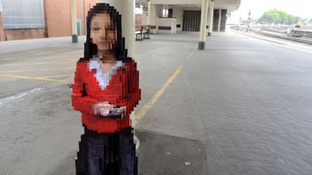 Maya pixel sculptuur van Luke Jerram