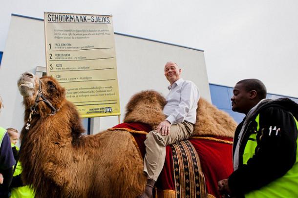 Schoonmaaksjeiks op kamelen