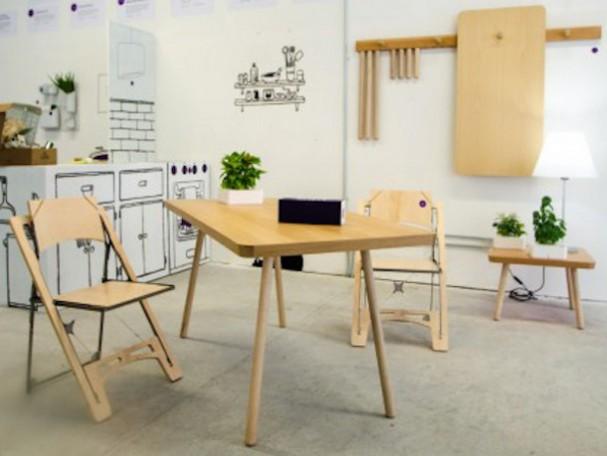 Opvouwbare meubelen eyespired for Meubels voor kleine ruimtes