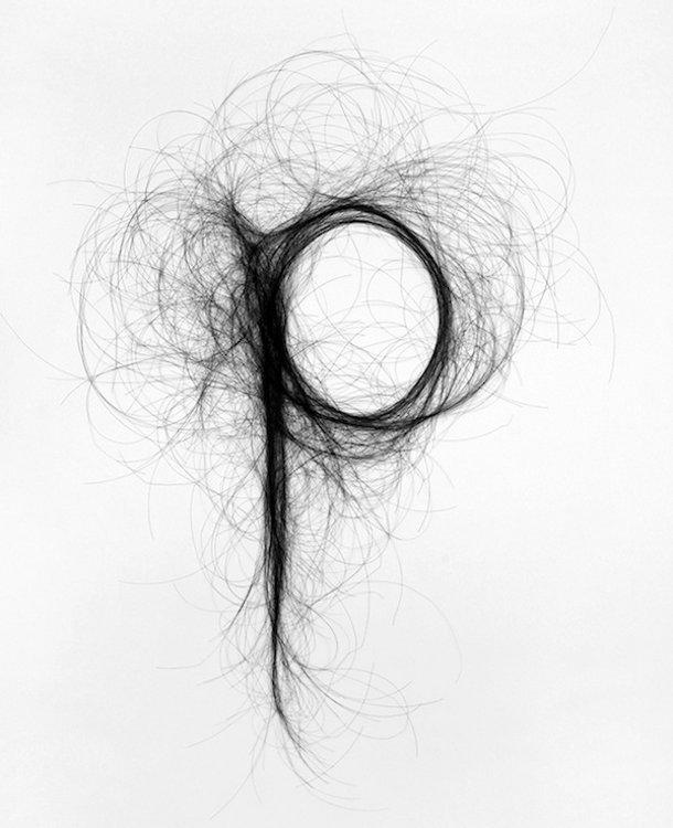 Lettertype van haren