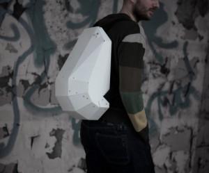 Witte rugzak van Solid Gray