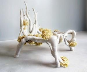 3D printed stoel van schimmels