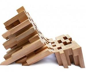 Houten stoelen bedekt met boomschors eyespired - Wekelijkse hout ...