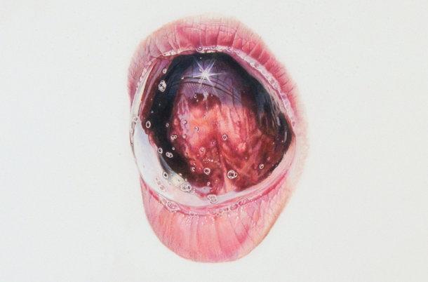 Hyperrealistische tekeningen van tongen