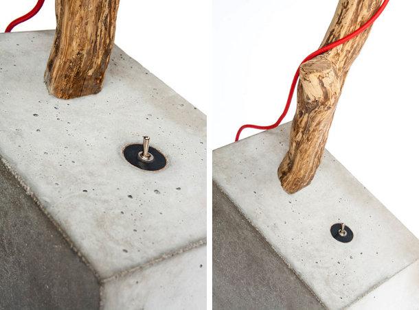 Iets Nieuws Takkenlamp met een betonnen voet - EYEspired #EE71