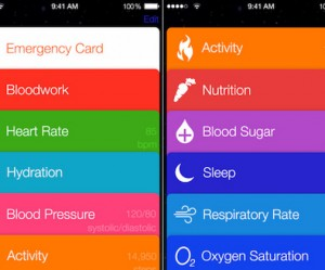 Healthbook iPhon app