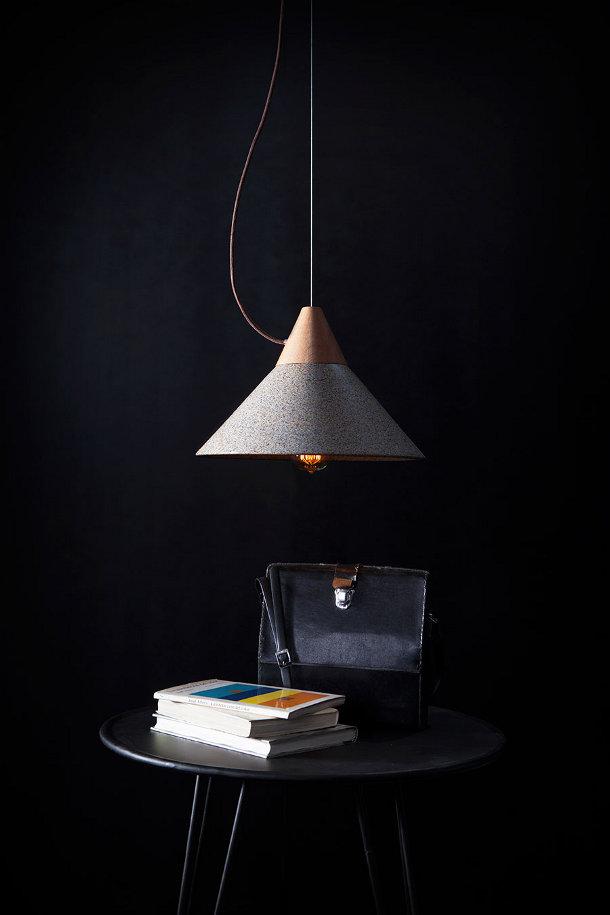 Mika 350 hanglamp van graniet en hout eyespired - Wekelijkse hout ...