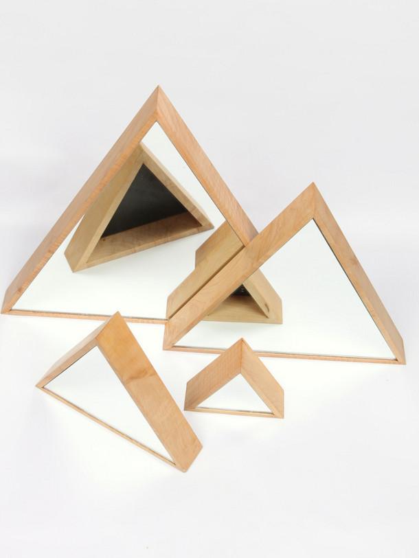 Houten driehoekige spiegels eyespired - Wekelijkse hout ...