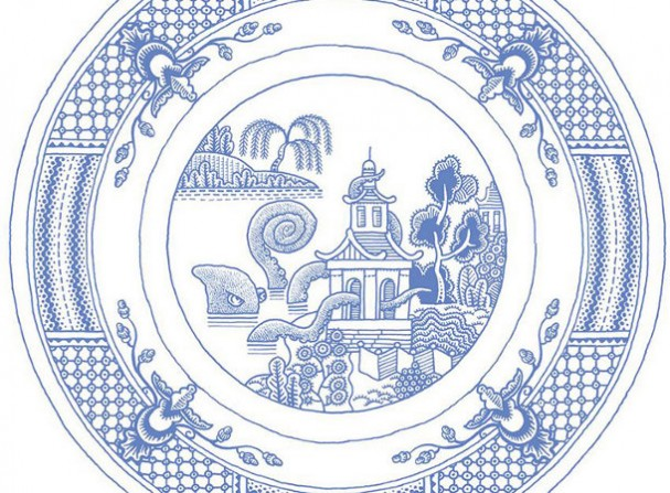 Klassiek porseleinen servies van Calamityware