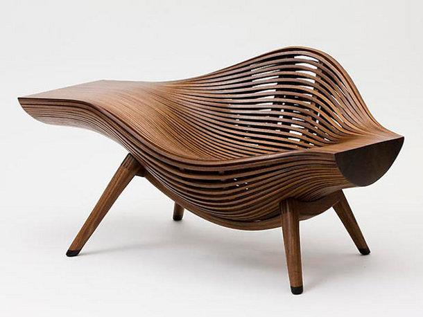 Eigentijdse stoel van hout eyespired - Eigentijdse design lounge ...