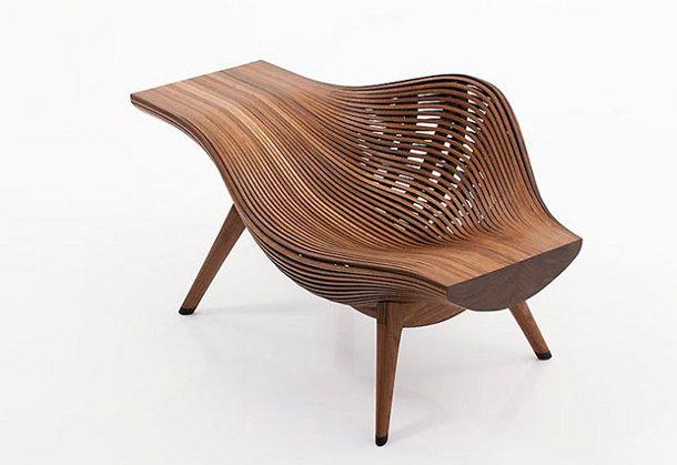 Eigentijdse stoel van hout eyespired - Stoel nieuwe kunst ...