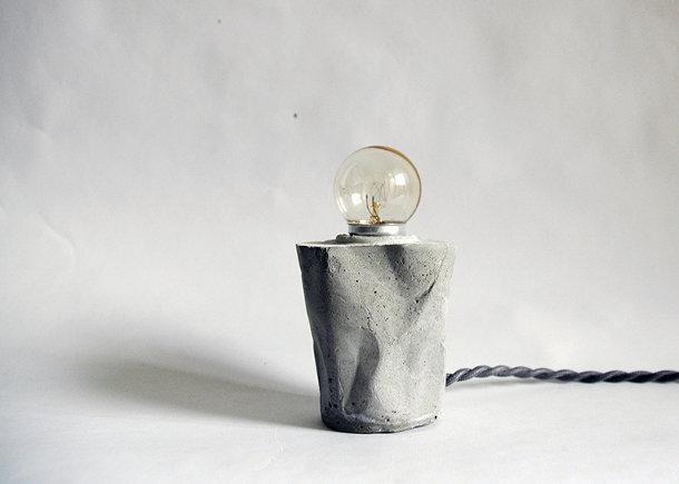 Experiment met betonnen lampen - EYEspired