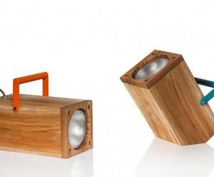 Design houten tafellamp