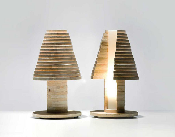 Houten LED lamp