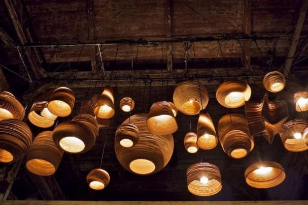 10 bijzondere hanglampen: hanglamp barun verweerd roest van kopen