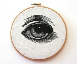 borduren-ogen