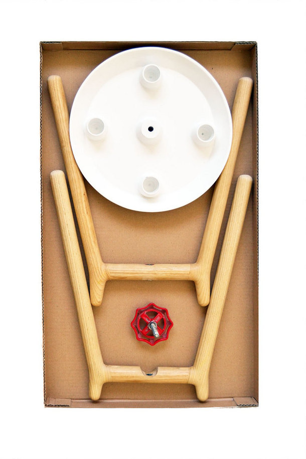 Houten kruk van Tizumuka