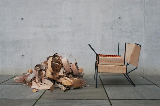 Design Stoel Lounge.Lounge Chair Gemaakt Van Berkenbast Eyespired