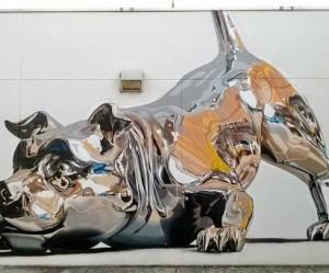muurschildering-hond