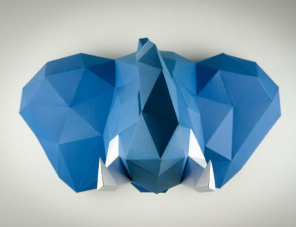 Aan De Muur : Papertrophy dieren voor aan de muur eyespired