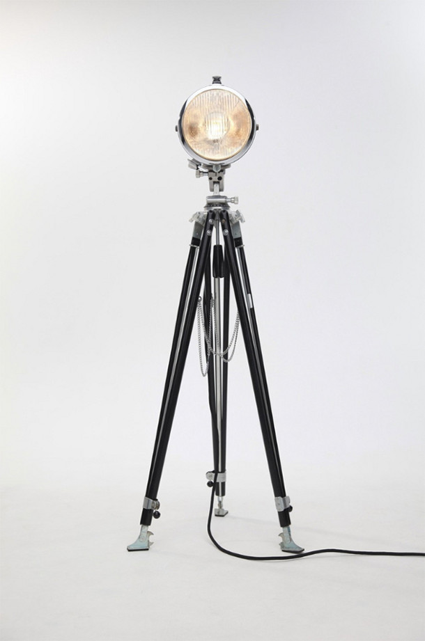 Lampen gemaakt van oude bromfiets koplampen eyespired for Vintage lampen