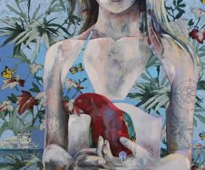 olieverfschilderijen-vrouwen-bloemen